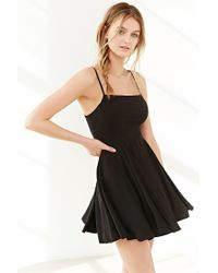 Silence + Noise Black Noir Strappy-back Mini Dress
