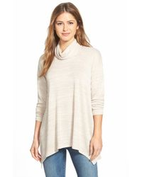 Kensie Natural Space Dye Turtleneck Sweater
