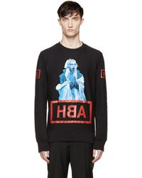 Hood By Air Ssense Exclusive Black Shame Sweatshirt for men
