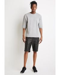 Forever 21 Gray French Terry Sweatshirt for men