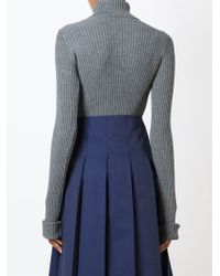 Jacquemus - Gray Ribbed Roll-neck Sweater - Lyst