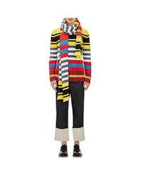 Loewe Multicolor Striped Scarf for men