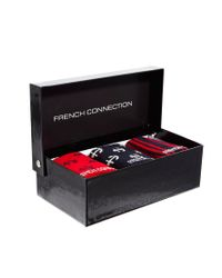 French Connection - Red 3pk Nautical Socks - Lyst