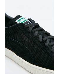 PUMA - Suede Classic Textured Black Trainers for Men - Lyst