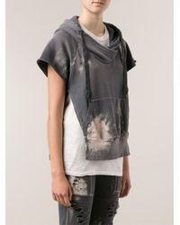 Bliss and Mischief Gray Distressed Hoodie