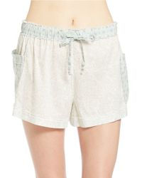 Free People - Natural Make My Day Sleep Shorts - Lyst
