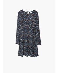 Mango - Blue Printed Dress - Lyst