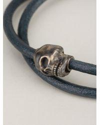 Tateossian | Blue Skull Bracelet for Men | Lyst