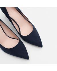 Zara | Blue High Heel Court Shoes | Lyst