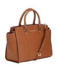 MICHAEL Michael Kors Brown Selma Leather Satchel Bag