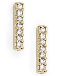 Nadri | Metallic Pave Bar Stud Earrings | Lyst