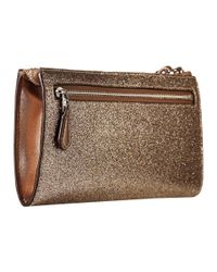 COACH - Metallic Box Program Glitter Zip Wallet - Lyst