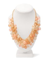Forever 21 - Pink Chic Bauble Bead Necklace - Lyst