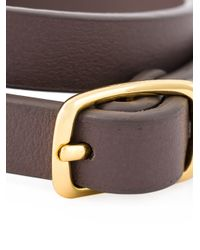 See By Chloé - Gray Double Wrap Bracelet - Lyst