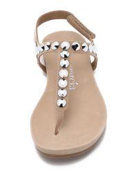 Pedro Garcia - Brown Judith Embellished Sandals - Lyst