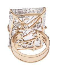 Federica Rettore | Metallic Filigree Rectangle Ring | Lyst