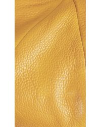 Burberry Yellow Leather Flat Cap for men