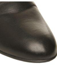 Stuart Weitzman Black Mainline Wedge Leather Knee Boots