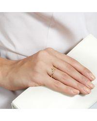 Alex Monroe Metallic 18 Carat Posy Diamond Ring