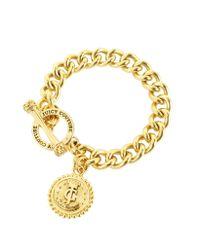 Juicy Couture - Metallic Status Coin Charm Bracelet - Lyst