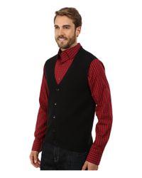 Perry Ellis | Black Cotton Blend Solid Sweater Vest for Men | Lyst