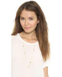 McQ Metallic Asymmetric Swallow Necklace Shiny Gold