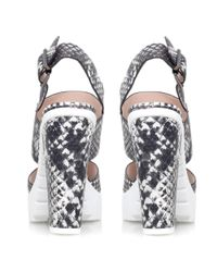 Miss Kg Gray Python High Heel Cleated Sole Sandals