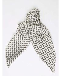 TOPMAN - White Ecru Printed Necktie for Men - Lyst
