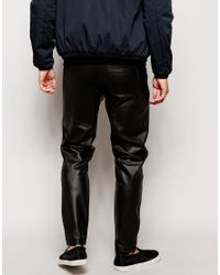 ASOS - Black Drop Crotch Trousers With Biker Styling for Men - Lyst