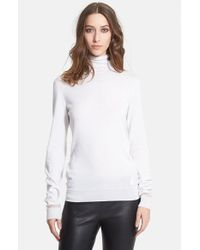 Lanvin | White Cashmere & Silk Turtleneck | Lyst