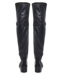 Le Pepe - Gray Over Knee Suede Boots - Lyst