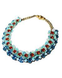 Shourouk | Blue Flora Aqua Necklace | Lyst