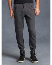 John Varvatos | Black Drawstring Knit Pant for Men | Lyst
