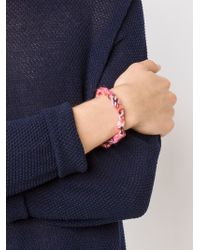The Elder Statesman | Multicolor Double Wrap Bracelet | Lyst