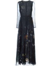 Valentino - Blue 'cosmo' Evening Dress - Lyst