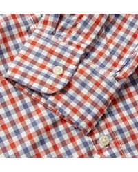 J.Crew | Red Button-Down Collar Checked Cotton Shirt for Men | Lyst
