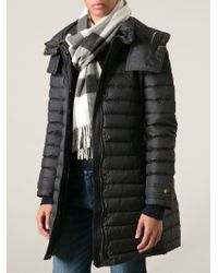 Burberry - Black Check Cashmere Scarf - Lyst