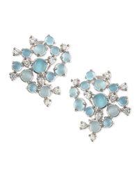 Paul Morelli - Blue Aquamarine & White Diamond Bubble Cluster Earrings - Lyst