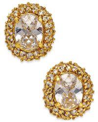 kate spade new york - Metallic Crystal Oval Stud Earrings - Lyst
