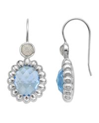 Slane | Nuage Blue Topaz & Labradorite Station Earrings | Lyst