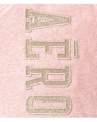 Aéropostale | Pink Vertical Aero Boyfriend V-neck Graphic T | Lyst