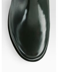 HUNTER Black Short Rubber Rain Boots