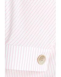 J.W.Anderson Pink Fine Stripe Cotton Blouse - Stripes