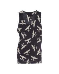 BOY London | Black Repeat-print Cotton-jersey Vest | Lyst