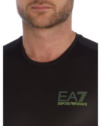 EA7 | Black Ventus Logo Crew Neck Regular Fit Vest for Men | Lyst