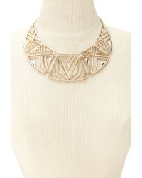 Forever 21 | Metallic Faux Pearl Statement Necklace | Lyst