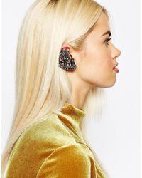 Monki | Metallic Jewel Ear Cuff | Lyst