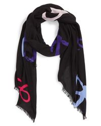 Kate Spade | Black Bow Print Scarf | Lyst