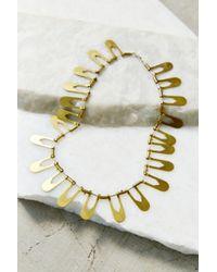 Better Late Than Never | Metallic Aten Collar Necklace | Lyst