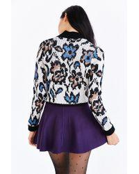 Kimchi Blue Purple Flared Sweater Skirt
